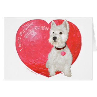 West Highland White Terrier Valentine Greeting Card