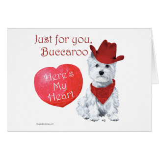 West Highland White Terrier Valentine Card