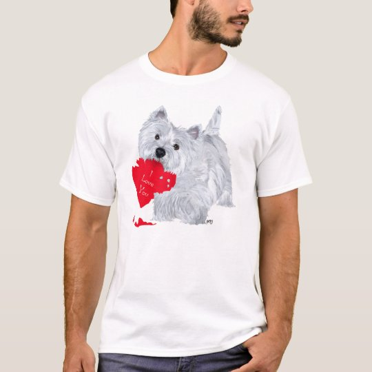 West Highland White Terrier Valentine T-Shirt