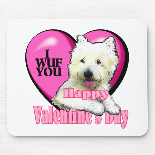 West Highland White Terrier Valentines Mouse Pad