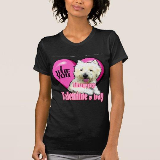West Highland White Terrier Valentines T-Shirt