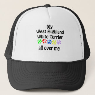 West Highland White Terrier Walks Design Trucker Hat