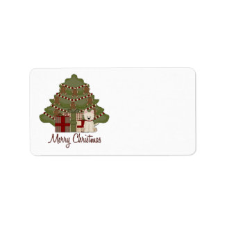 West Highland White Terrier West Christmas Address Label