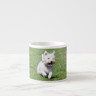 West Highland White Terrier, westie dog cute photo Espresso Cup