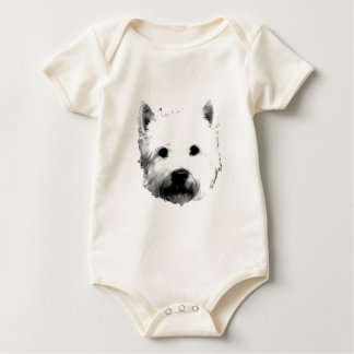West Highland White Terrier Westie Dog Image Rompers