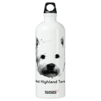 West Highland White Terrier Westie Dog Image SIGG Traveler 1.0L Water Bottle