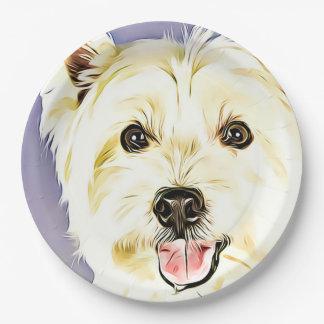 West Highland White Terrier,Westie,Dog,Puppy Paper Plate