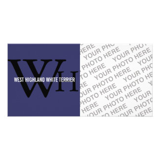 West Highland White Terrier Westie Monogram Photo Card Template