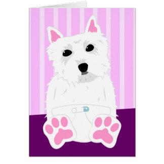 West Highland White Terrier Westie Puppy Card