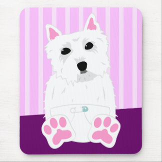 West Highland White Terrier Westie Puppy Mouse Pad