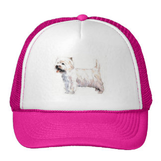 West Highland White Terrier Westie Trucker Hat