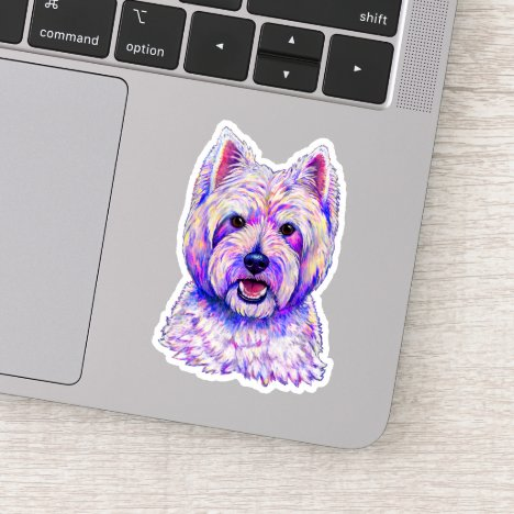 West Highland White Terrier Westie Vinyl Sticker