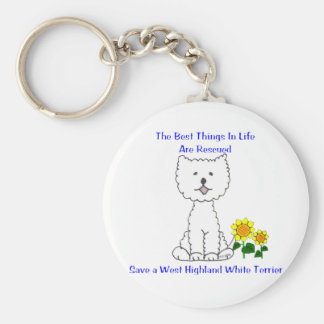 West Highland White Terriers Best Things In Life Basic Round Button Keychain