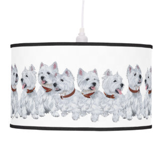 West Highland White Terriers Ceiling Lamp