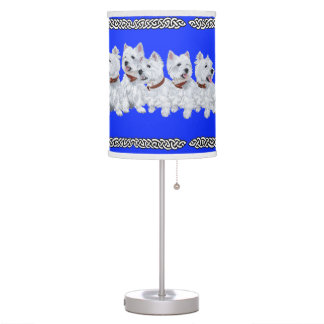 West Highland White Terriers Desk Lamp