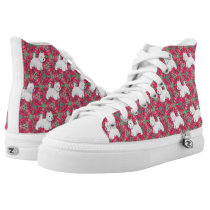 West Highland White Terriers High-Top Sneakers