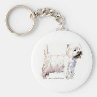 West Highland White Terriers Keychain