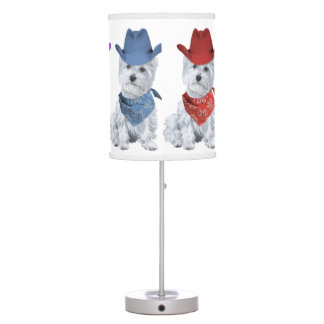 West Highland White Terriers Table Lamps