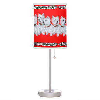 West Highland White Terriers Table Lamp