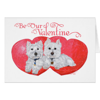 West Highland White Terriers Valentine Card
