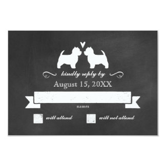 West Highland White Terriers Wedding RSVP Reply Card