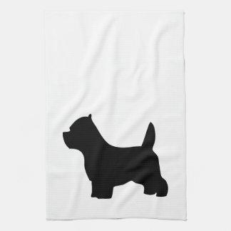 West Highland White Terriers, westie silhouette Kitchen Towel