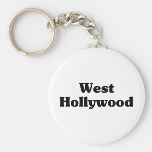 West Hollywood  Classic t shirts Keychain