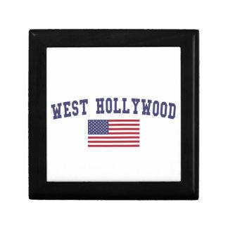 West Hollywood US Flag Jewelry Box