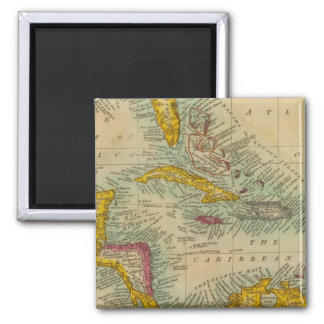 West India Islands 2 Inch Square Magnet