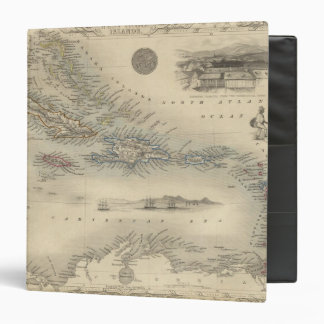 West India Islands 3 3 Ring Binder