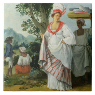 West Indian Creole Woman with her Black Servant, c Tile