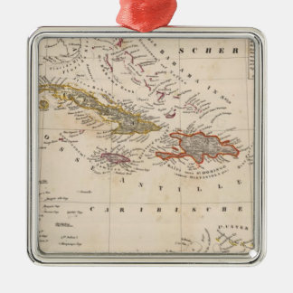 West Indies 10 Square Metal Christmas Ornament