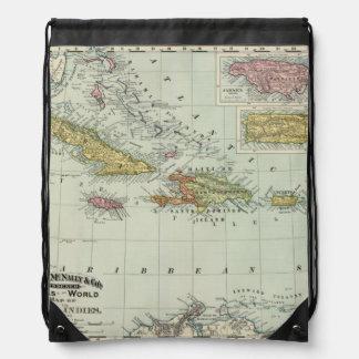 West Indies 11 Drawstring Backpack