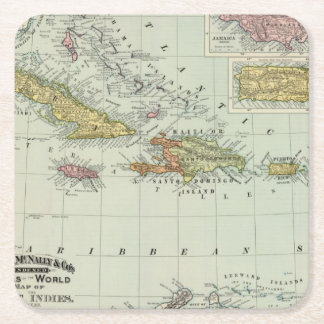 West Indies 11 Square Paper Coaster
