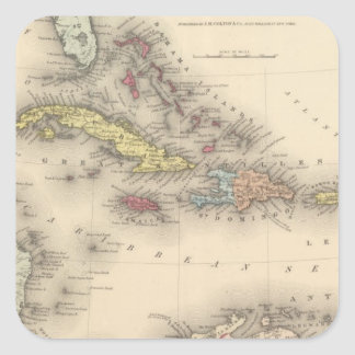 West Indies 12 Square Sticker