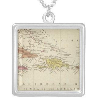 West Indies 14 Square Pendant Necklace