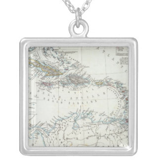 West Indies 17 Square Pendant Necklace