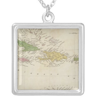 West Indies 18 Silver Plated Necklace