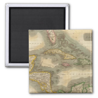 West Indies 19 2 Inch Square Magnet