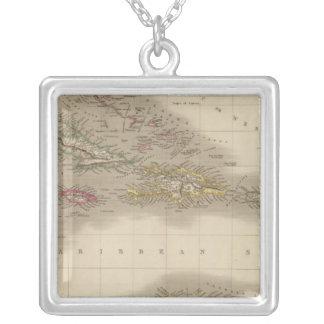 West Indies 22 Square Pendant Necklace