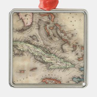 West Indies 2 Metal Ornament