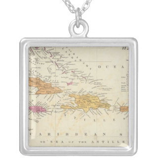 West Indies 4 Silver Plated Necklace