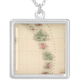 West Indies 75 Silver Plated Necklace