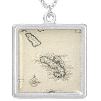 West Indies 7 Square Pendant Necklace