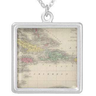 West Indies 9 Square Pendant Necklace
