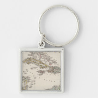 West Indies and Central America Keychain