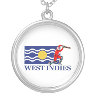 West Indies Cricket Player Silver Plated Necklace