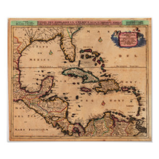 West Indies Danckerts, Cornelius 1680 Poster