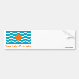 West Indies Federation Flag with Name Bumper Sticker