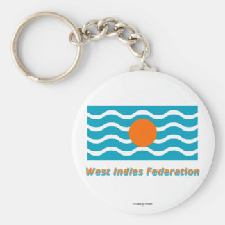 West Indies Federation Flag with Name Keychain